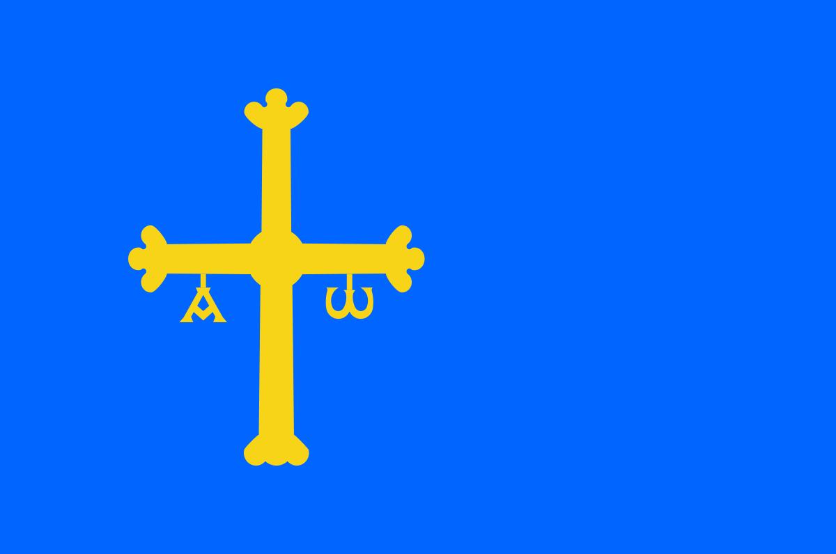 Bandera de la provincia de Asturias