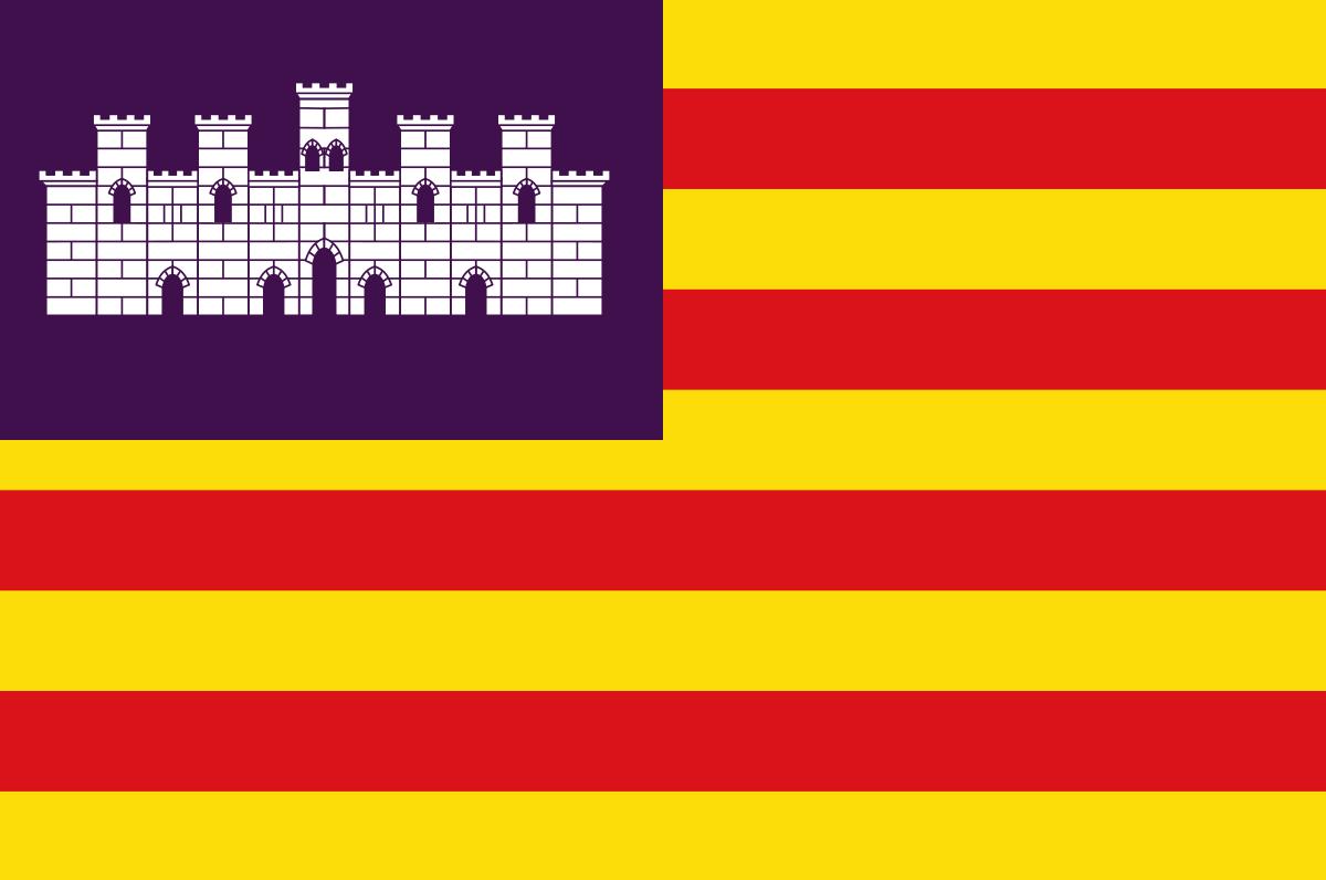 Bandera de la provincia de Islas Baleares