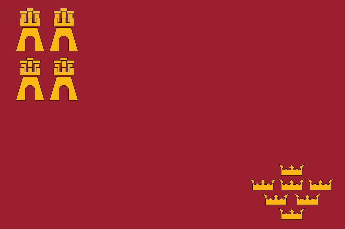 Bandera de la provincia de Murcia