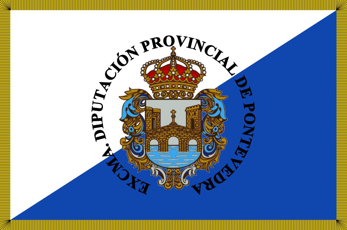 Bandera de la provincia de Pontevedra