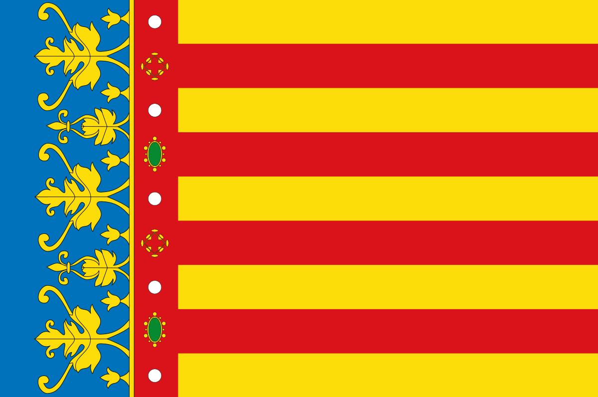 Bandera de la provincia de Valencia